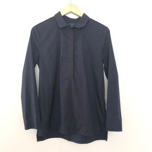 COS Half Button Collared Shirt Size 8